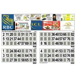 250 plaques de 4 Cartons de loto Mega Pub 250 g