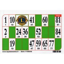1000 Cartons de loto Bristol 250 g couleur - vert: au Palais du Loto