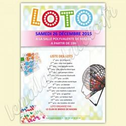 Affiche personnalisable pour annoncer  votre loto