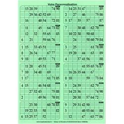 1000 grilles de loto 250 g en plaque