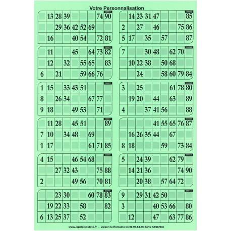 1000 grilles de loto rigides 1 mm - 900 g en plaque au Palais du Loto