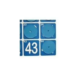 6 caches numéros pour panneau magnétique pour loto