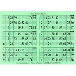 1000 Grilles de loto très épaisses 2 mm - 1300 g en plaque