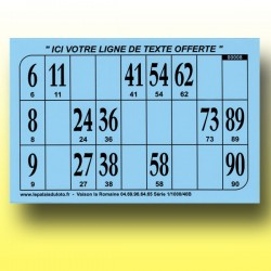 1000 Cartons de loto Rigides 1 mm - 900 g