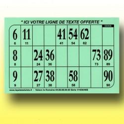 1000 Cartons de loto Bristol 250 g avec personnalisation offerte!